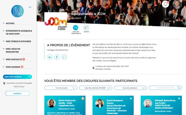 Nodily, solution montréalaise de réseautage
